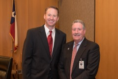 Judge Goodwin and Harris County Constable Ron Hickman