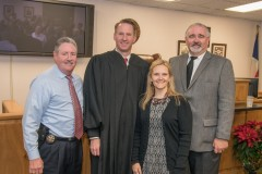 Judge Goodwin with Harris County Constable Ron Hickman, Harris County Judge Laryssa Korduba, and Harris County Commissioner Jack Cagle